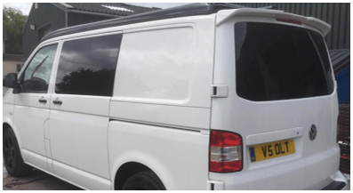 tinted window on camper van