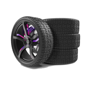 tyres with coloured alloys